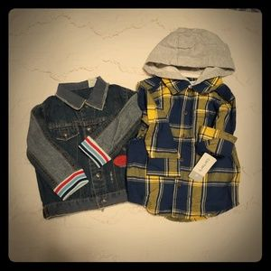 Carter's shirt 2t and Guess Jean's jacket 18 month